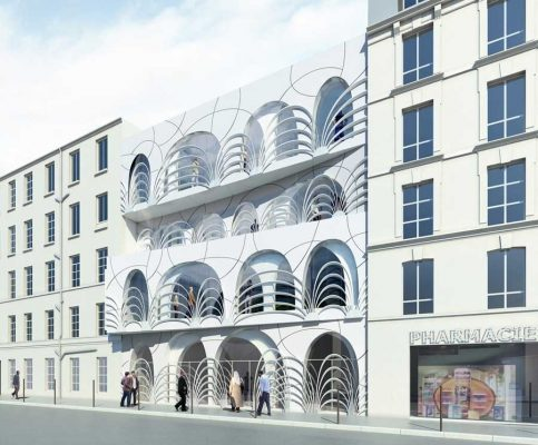 Institute for Islamic Culture, rue Doudeauville, IIC Paris building design