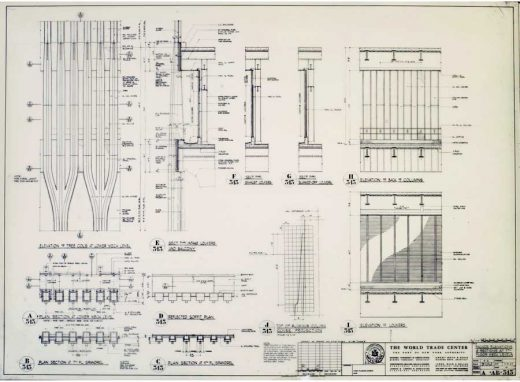 New York World Trade Center Architectural Drawing