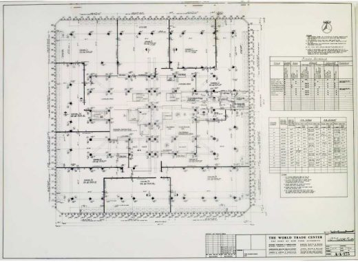 World Trade Center Architectural Drawings New York