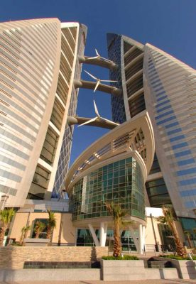 Bahrain World Trade Center building in Manama