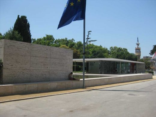 Barcelona Pavilion Mies van der Rohe building flag - Need to Have an HVAC Repair Done?