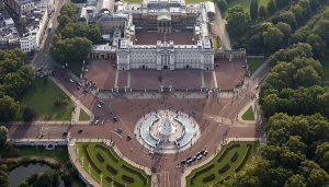 Buckingham Palace London aerial photo