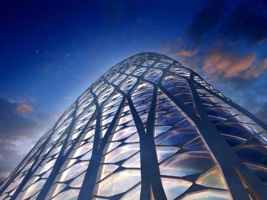 Bucharest Tower Romania building design by Zaha Hadid