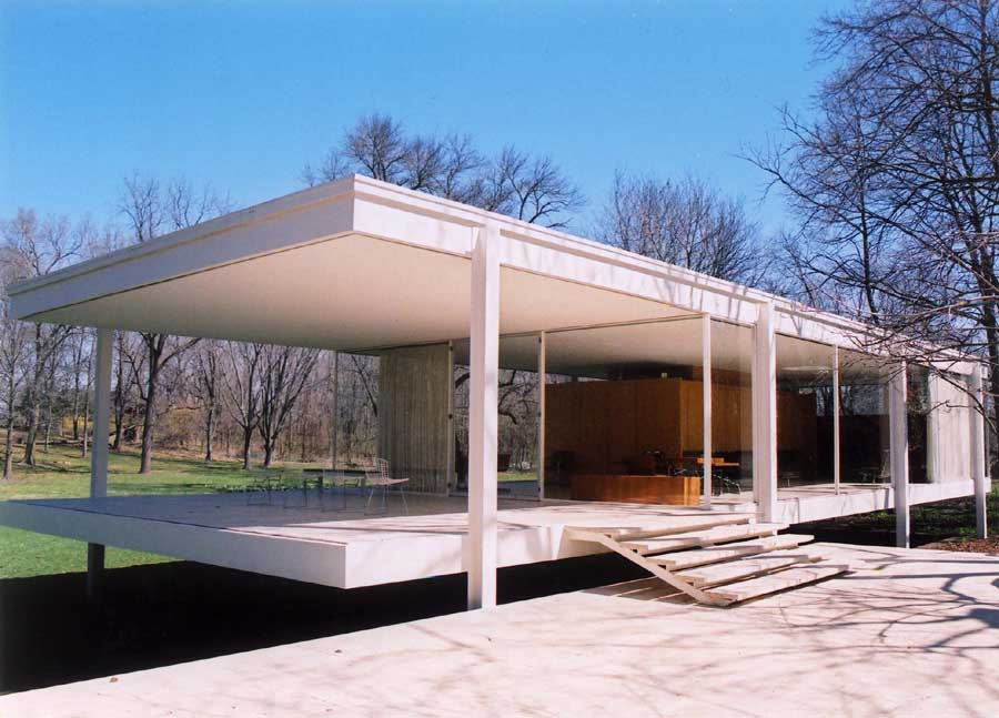 Farnsworth House, Mies van der ohe: Photos - e-architect - ^