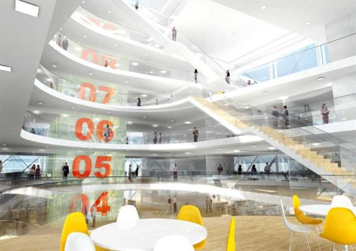 Der Cube Berlin building design by 3XN Architects