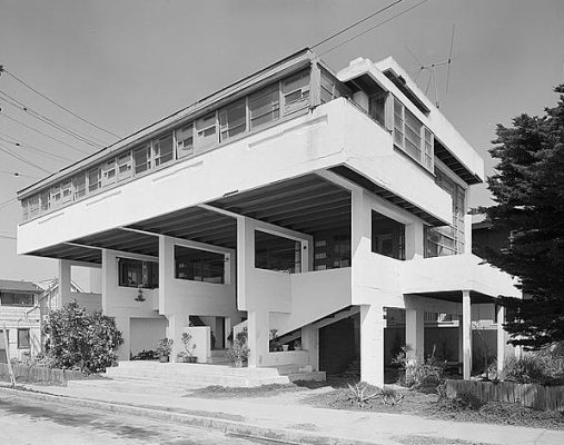 Lovell Beach House, Balboa Peninsula, Newport Beach, California by Rudolf Schindler Architect
