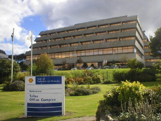 Shell offices in Tullos, Aberdeen headquarters