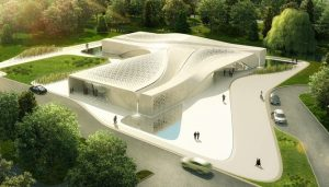 Beukenhof Auditorium and Crematorium building design