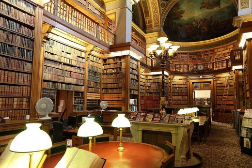 Bibliotheque Nationale Paris French National Library interior by Henri Labrouste Architect
