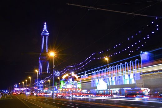 Blackpool Tower building lights