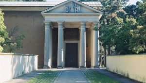 Chapel of Resurrection at the Woodland Cemetery in Stockholm, Sweden
