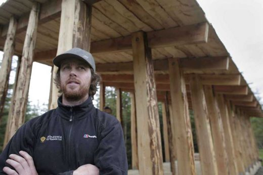 Chris Houston at the Selkirk Forest Pitch shelter
