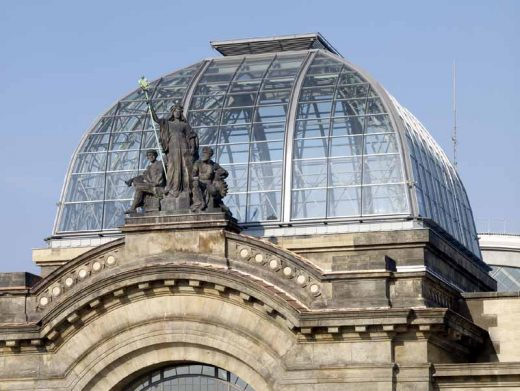 Dresden Station Building roof Foster + Partners