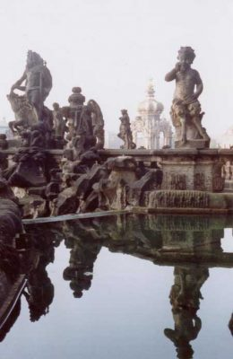 The Zwinger Palace Dresden sculptures