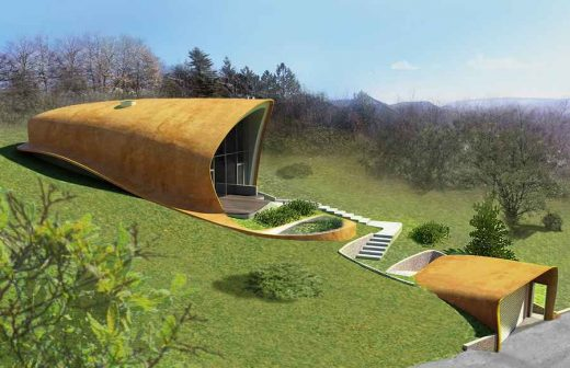 Free form house design in Hungary