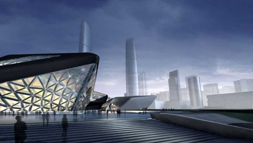 Guangzhou Opera House Building by Zaha Hadid Architect