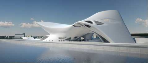 Nuragic Museum Sardinia design by Zaha Hadid architect