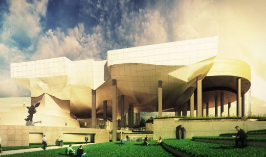 Taichung City Cultural Center Building by Peter Eisenman Architect