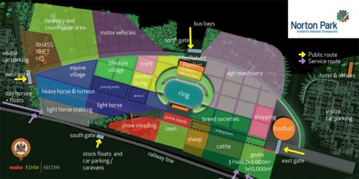 Scotland's National Showground, Edinburgh plan layout