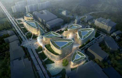 Shekou Network Valley Buildings by Swanke Hayden Connell Architects