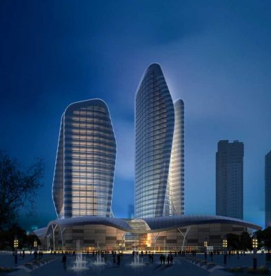 Wuhan Pebble Towers China by Atkins