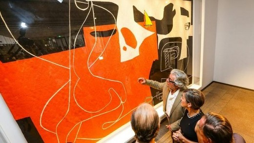 Le Corbusier tapestry at Sydney Opera House