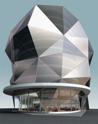 Qatar Ford Showroom building design by Zoom, architects