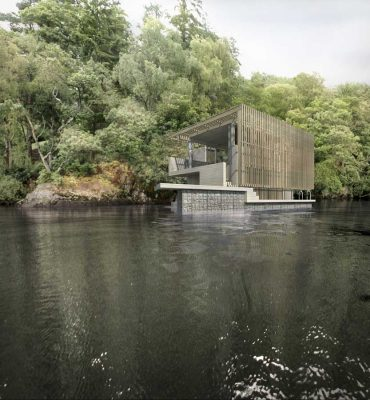 Loch Ard Boathouse building design by Sutherland Hussey Architects