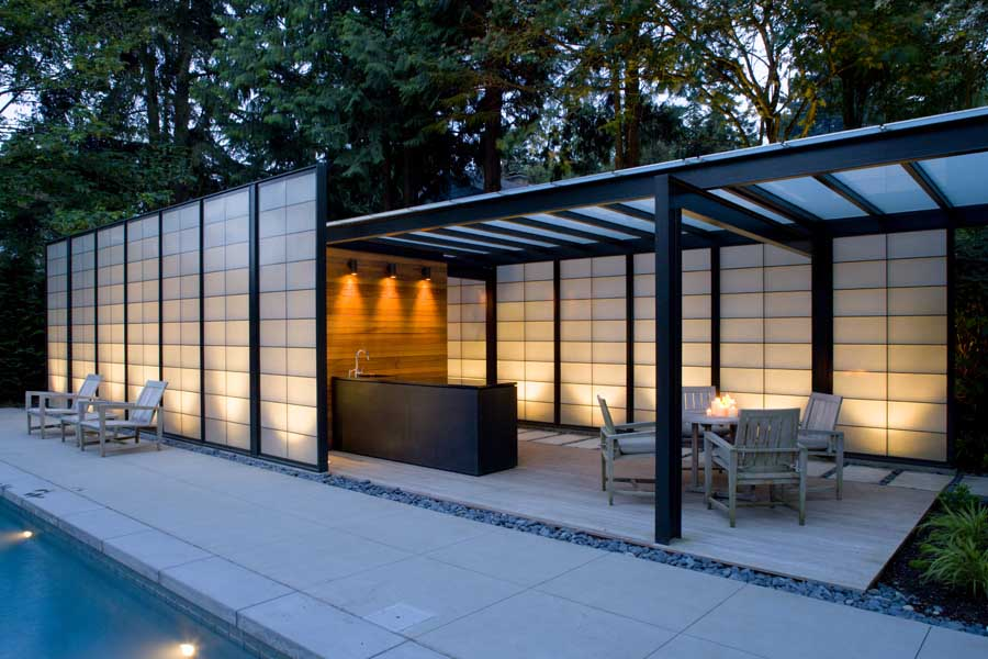 Medina Pool House Pavilion: Washington Real Estate - e-architect