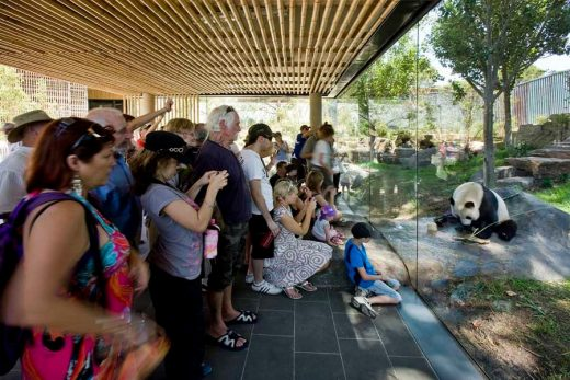 Adelaide Zoo Giant Panda Forest visitors