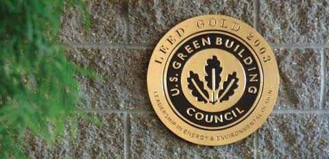 LEED Credit System wall plaque badge