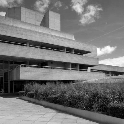 The National Theatre in London, an example of modernist and brutalist architecture by Denys Lasdun