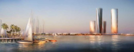 Lusail Qatar building designs by Foster + Partners Architects