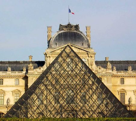 Louvre Paris Pyramid building in France