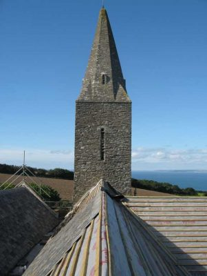St. Germanus Church Cornwall, Tyvek roofing underlay