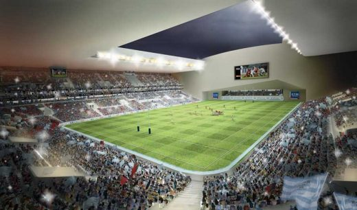Nanterre Stadium Paris building design by Christian de Portzamparc architect