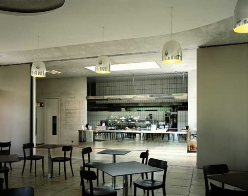 West London cafe building interior