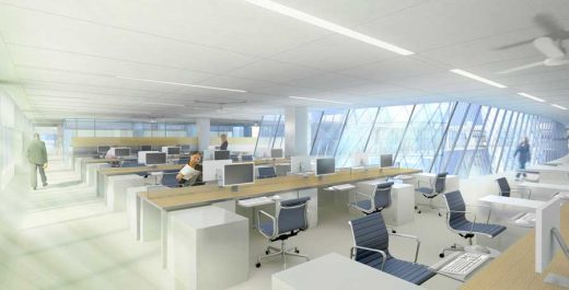 Net Zero Building Los Angeles offices interior