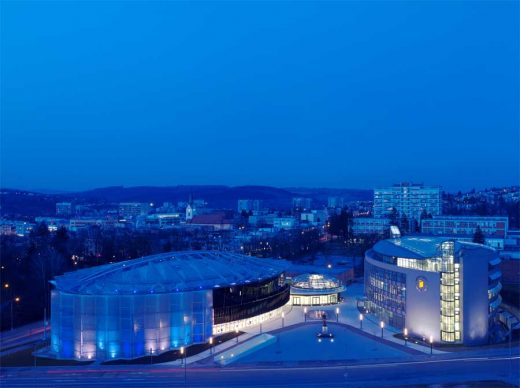 Zlin Congress Centre Cultural Centre building by Brno Architect, Eva Jiricna