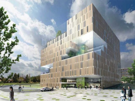 eco cube Oslo building design by a-lab