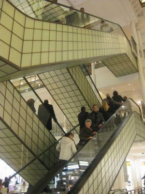 Le Bon Marché Paris department store escalators