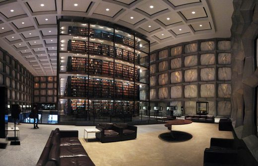Beinecke Rare Book & Manuscript Library at Yale University interior