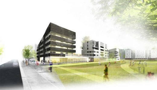 Andromède District Housing Toulouse design