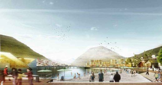 Klaksvík City Center Faroe Islands design by Henning Larsen Architects