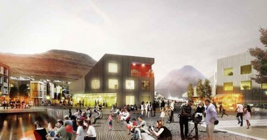 Klaksvík City plaza design by Henning Larsen Architects