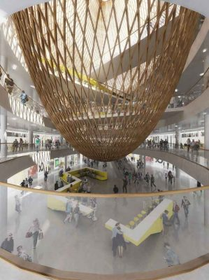 Beaugrenelle Shopping Mall Paris retail interior