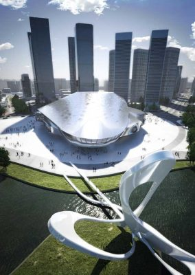 Dalian International Conference Center building China