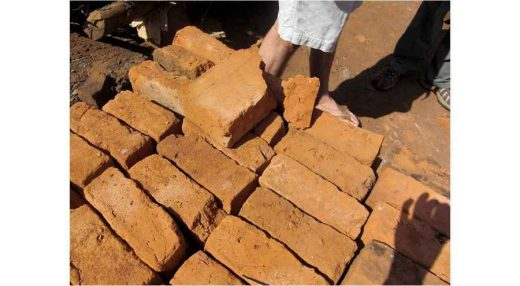 Local bricks in Patongo market place, Uganda