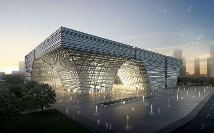 Changzhou culture center southern china building e for Void architecture definition