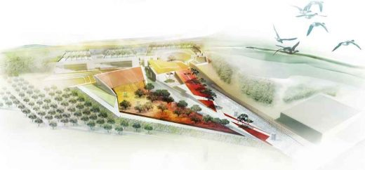 Palestinian Museum Architecture Competition entry by Edward Cullinan Architects